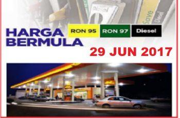 harga minyak turun bermula 29 jun 2017