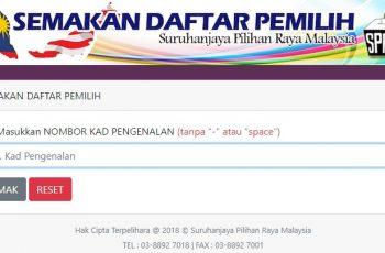 semakan daftar pemilih spr pru online